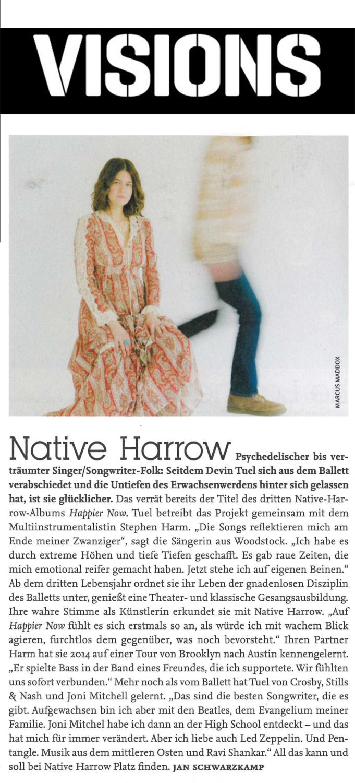 Native Harrow, Visions Mag2, August 2019