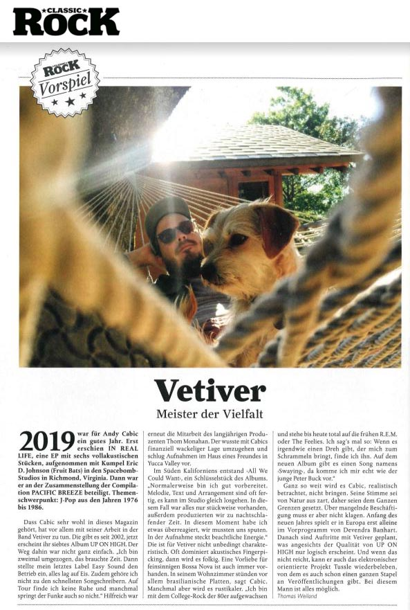 Vetiver - Classic Rock Deutschland - December 2019