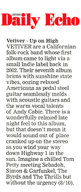 Vetiver, Southern Daily Echo, Dec 2019