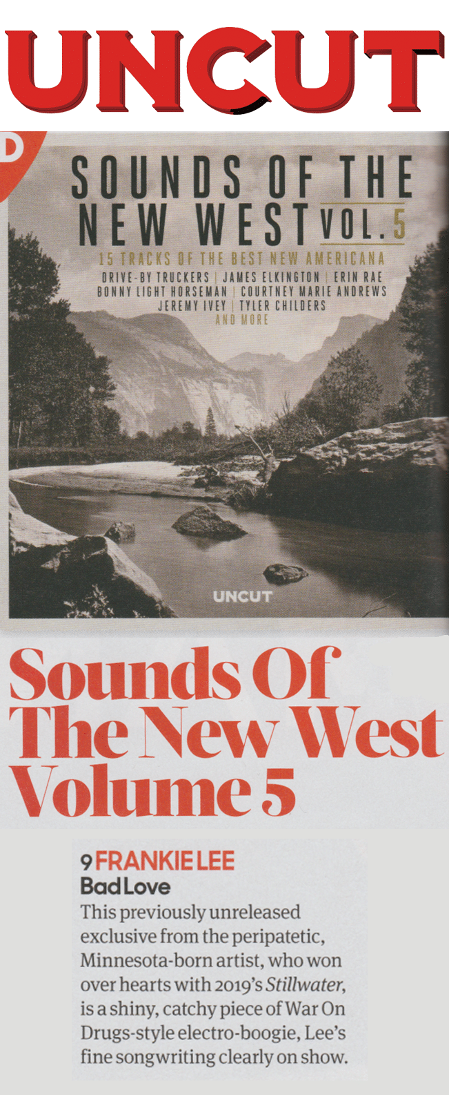 Frankie Lee, Sounds of the New West Uncut, 15 January 2020
