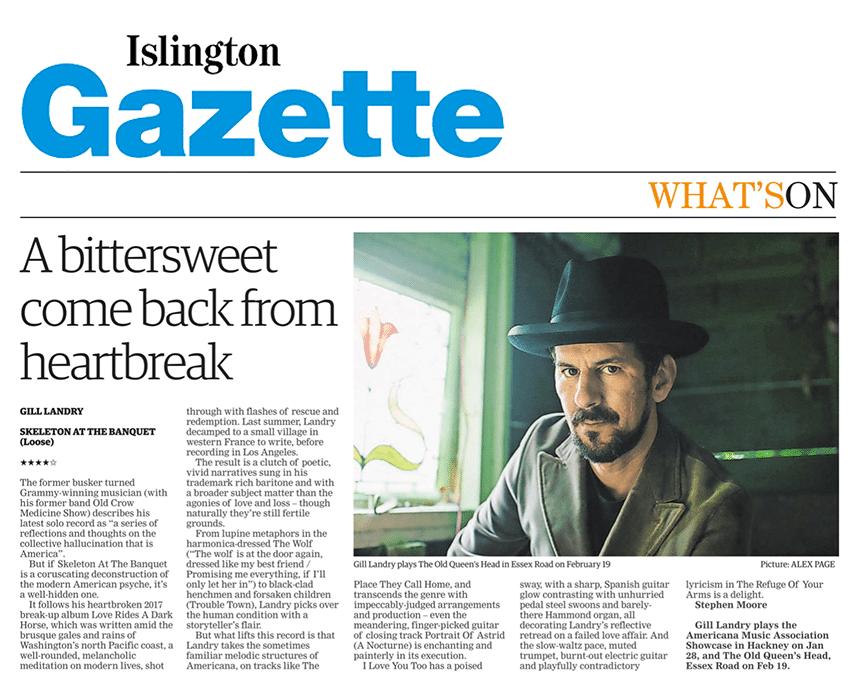 Gill Landry, Islington Gazette, 23 Jan 2020