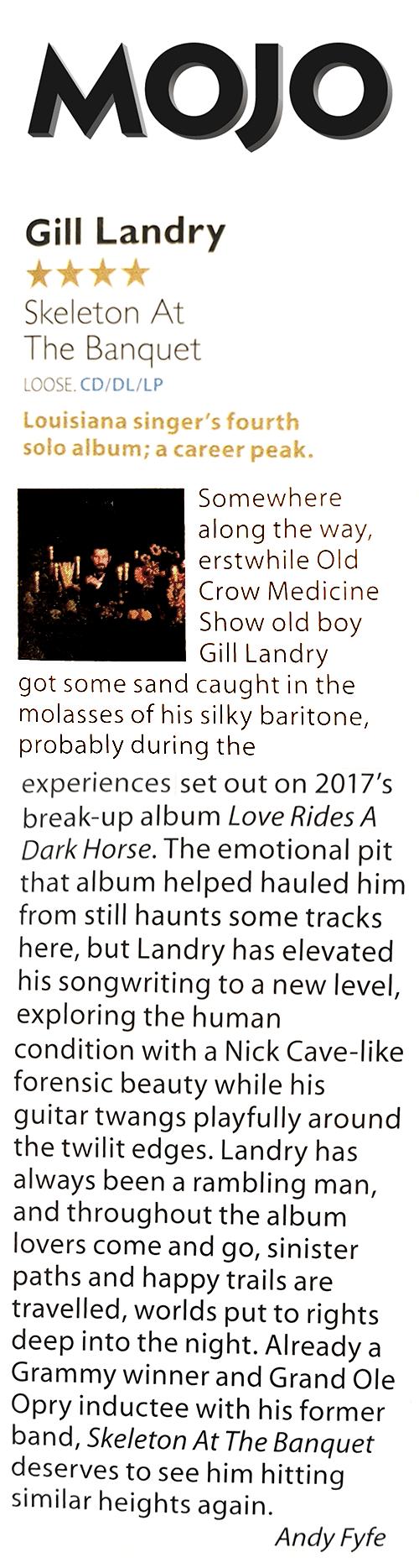 Gill Landry, MOJO, March 2020