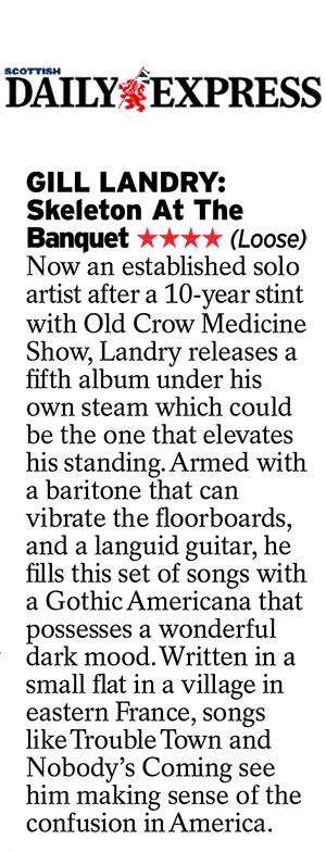 Gill Landry, Scottish Daily Express, 24 Jan 2020