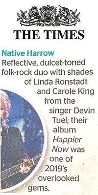 Native Harrow, The Times, 11 January 2020