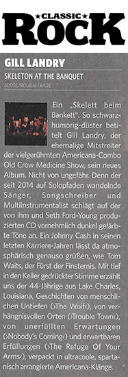 GillLandry, ClassicRock Review, March 2020